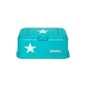FunkyBox- Porta toalhitas Turquesa com estrela - Grande