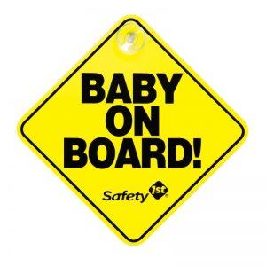 """Safety 1ST - Sinalização com ventosa """"Baby on Board"""""""
