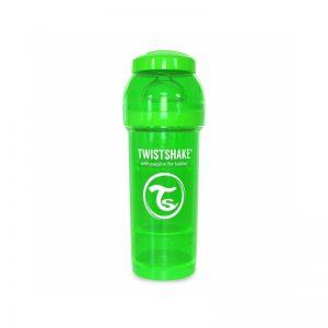 Twistshake - Biberão Anti-colicas - 260ml Verde