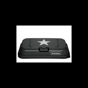 FunkyBox- Porta toalhitas Cinza Escuro com estrela - Pequena