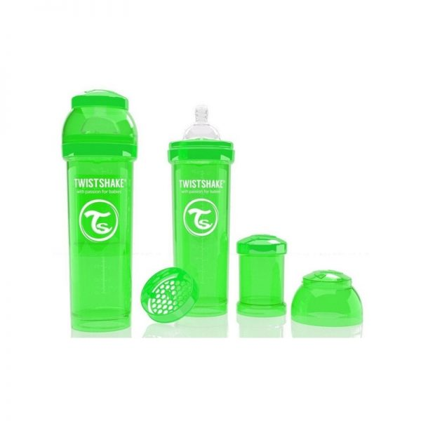 Twistshake - Biberão Anti-cólicas - 330ml Verde