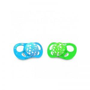 Twistshake - Chupetas +6 meses - Azul/Verde