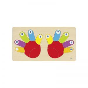 Goki - Puzzle de Madeira 14 Peças - As Mãos