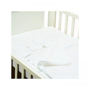 B - Mum - Conjunto de Lençois Safety Baby Bed 50 x 80 cm - Branco/Pureza