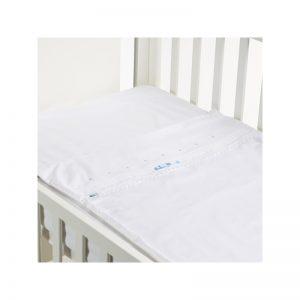 B - Mum - Conjunto de Lençois Safety Baby Bed 50 x 80 cm - Lacinho Azul