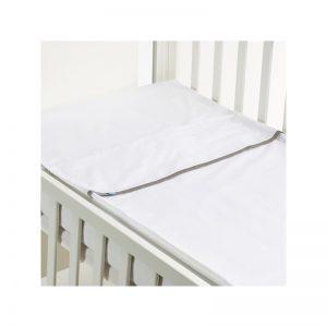B - Mum - Conjunto de Lençois Safety Baby Bed 120 x 60 cm - Cinza/Liso