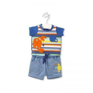 Tuc Tuc - T-Shirt + Bermuda Felpa Crabs Menino (Vários Tamanhos Disponíveis)