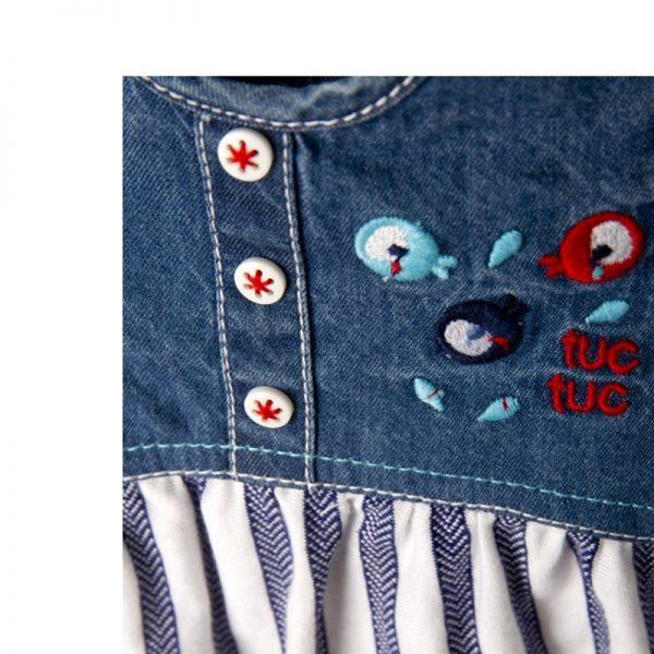 Tuc Tuc - Vestido Combinado Fishes Menina (Vários Tamanhos Disponíveis)