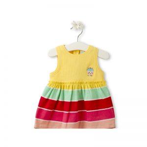 Tuc Tuc - Vestido Combinado Yummi Menina (Vários Tamanhos Disponíveis)