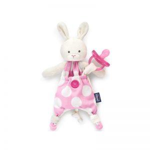 Chicco - Doudou Pocket Friend com Prende Chupeta Rosa