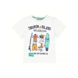 """Bóboli - T-shirt Menino """"Tiburón Island"""""""