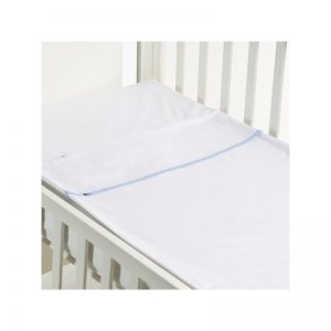 B - Mum - Conjunto de Lençois Safety Baby Bed 50 x 80 cm - Azul/Liso
