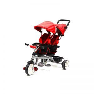 Q Play - Triciclo Evolutivo Giro Gémeos Vermelho