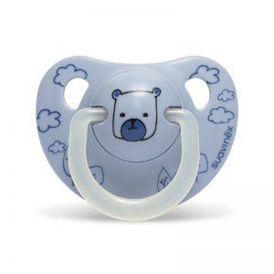 Suavinex - Chupeta Silicone Anatómica Urso Azul 0-6m