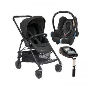 Bebé Confort - Carrinho Mya + Maxicosi Nomad Black + Base Familyfix