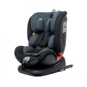 Apramo All Stage- Cadeira Auto Grupo 0/1/2/3 Black Series - Midnight Black