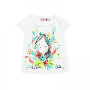 Bóboli - T-Shirt para bebé menina Branco - Foolish Things