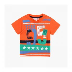 Bóboli - T-Shirt para bebé menino Laranja - Over The Rainbow