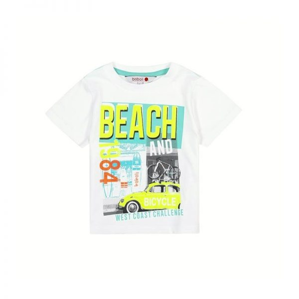 Bóboli - T-Shirt para bebé menino Branco - Beach