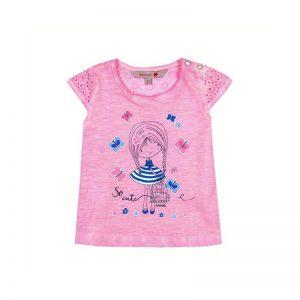 Bóboli - T-Shirt para bebé menina Blue Coast - Rosa