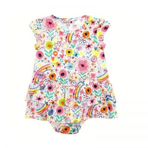 Bóboli - Vestido estampado para menina - Over The Rainbow