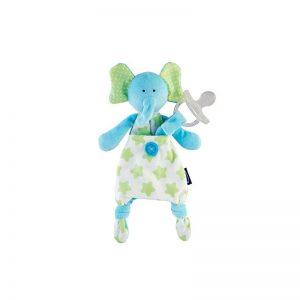 Chicco - Doudou Pocket Friend com Prende Chupeta Elefante