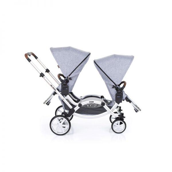 ABC - Zoom Carrinho Gémeos com 2 Ovinhos - Graphite Grey 2019