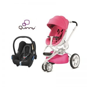 Quinny Moodd Pink Passion + CabrioFix Nomad Black