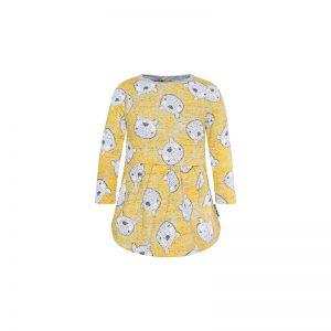 Tuc Tuc - Vestido com Ursinhos Menina Artic Bear - Amarelo