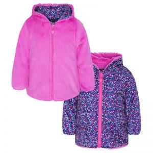 Tuc Tuc - Parka Reversível de Pêlo com Estampado Menina Dream Pink