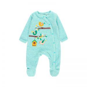 Bóboli - Babygrow Veludo Bebé Verde Claro