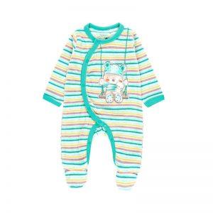 Bóboli - Babygrow Veludo Riscas Bebé