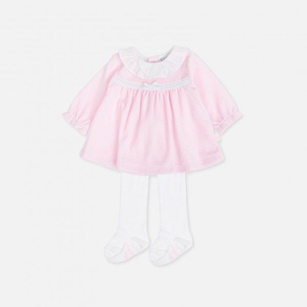 Tutto Piccolo - Vestido com collants Menina Rosa